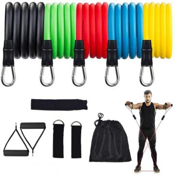 11 Stk Resistance Bands Yoga Tubes Pull Rope