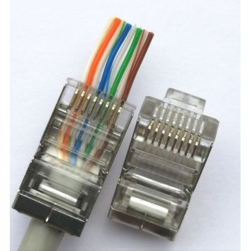 RJ45 EZ CAT5 STP connector  8P8C plug