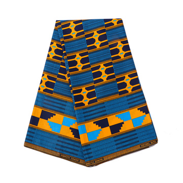 Kente fabric african fabrics wax print for dress