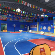 Indoor PVC flooring for basketball court