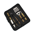 Small Size Wooden Handle 4pcs BBQ Tools Set