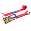 "2"" 5T 50mm Wholesale Truck Tie Down Ratchet Buckle Straps Finger Handle With 2 Inch Close Rave Hooks"