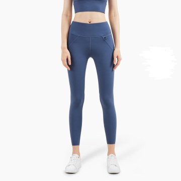 Women fitness high waist yoga pants with pockets