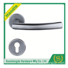 SZD STH-119 Hollow stainless steel bathroom door handle on plate