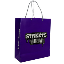 High Quality Custom Logo Embossed Paper Bag