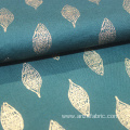 printed cotton canvas carded poplin fabric for dress