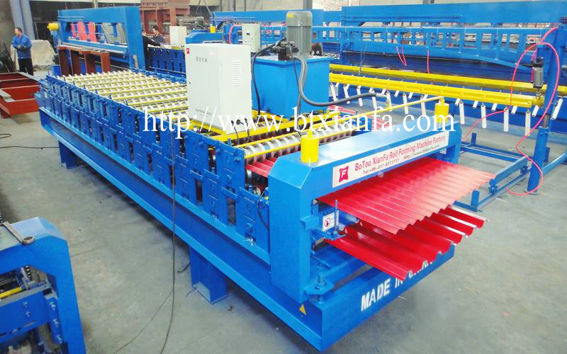 roof steel deck machine