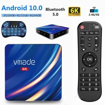 2020 H.265 Android 10 Newest Smart TV Box 16GB 32GB 64GB 2.4/5G WiFi 1000M Ultra HD 6K Google TV Media Player Set Top Box