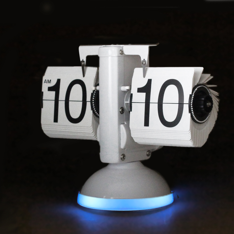 Table Flip Clock with LED Light