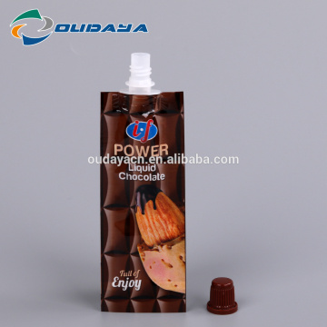Beverage Package 8.2mm Spout Liquid Chocolate Pouch
