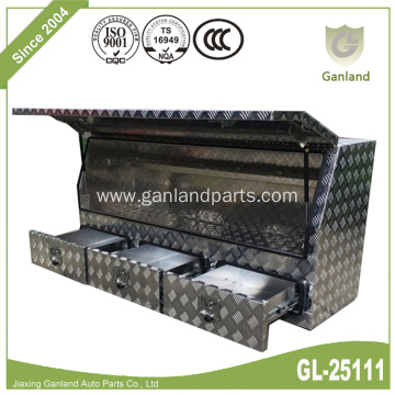 Three Drawers Truck Tool Box Diamond Plate Aluminum