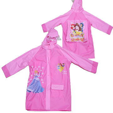 Pink Kids Pvc Raincoat
