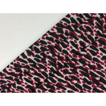Polyester Spandex Crepe Print Knit Fabric