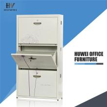 Multifunctional steel shoe locker storage cabinet