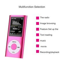 """5 Color Optional 4TH 1.8""""LCD MP4 Player Video Radio Support SD Card Built-in Rechargeable Battery Portable Dropship Freeshipping"""