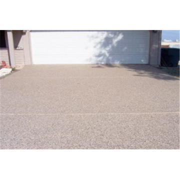 Outdoor garden permeable concrete floor