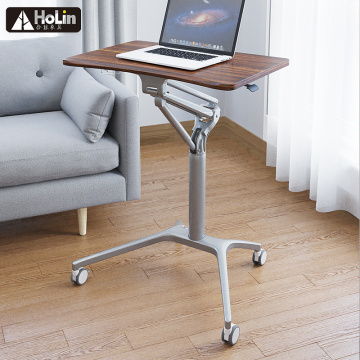 Mobile Height Adjustable Rolling Sit Stand Workstation Desk
