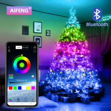 Christmas Tree Decoration USB LED String Light Copper Lamp With Bluetooth APP Control Waterproof Indoor Outdoor Fairy Lights