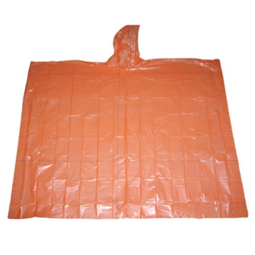 Adult Disposable Plastic reflective raincoat poncho for rain