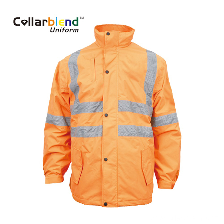 Hi Vis Orange Winter Safety Coat