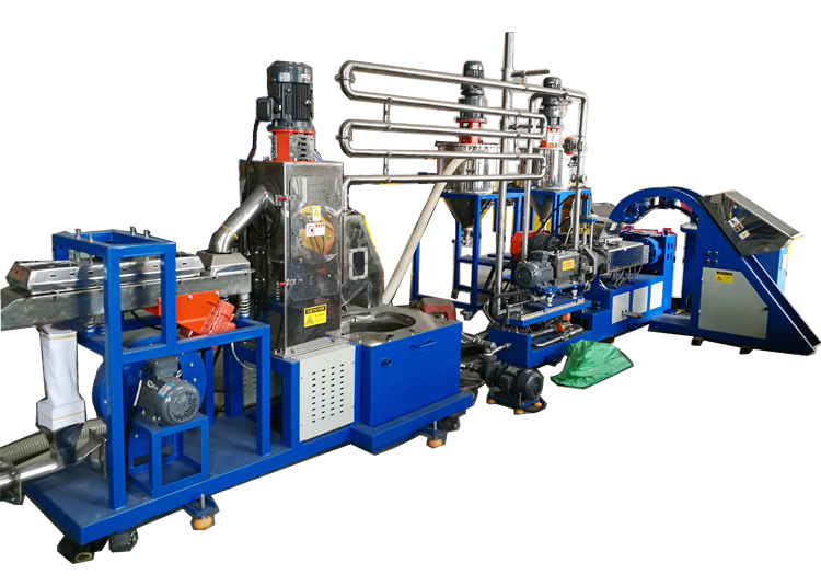 Under-water extrusion pelletizing machine