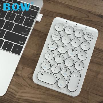 B.O.W Portable Slim Mini Number Pad,22 Keys 2.4Ghz Wireless USB Numeric Keypad Keyboard for Laptop Desktop PC Notebook