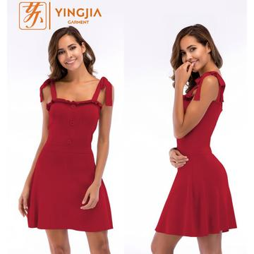 A-line Knit Beach Women's Slip Bandage Vntage Dress