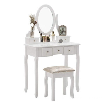 Luxury Wooden dressing table with mirror mdf