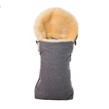 Comfortable sheepskin baby sleeping wool bag
