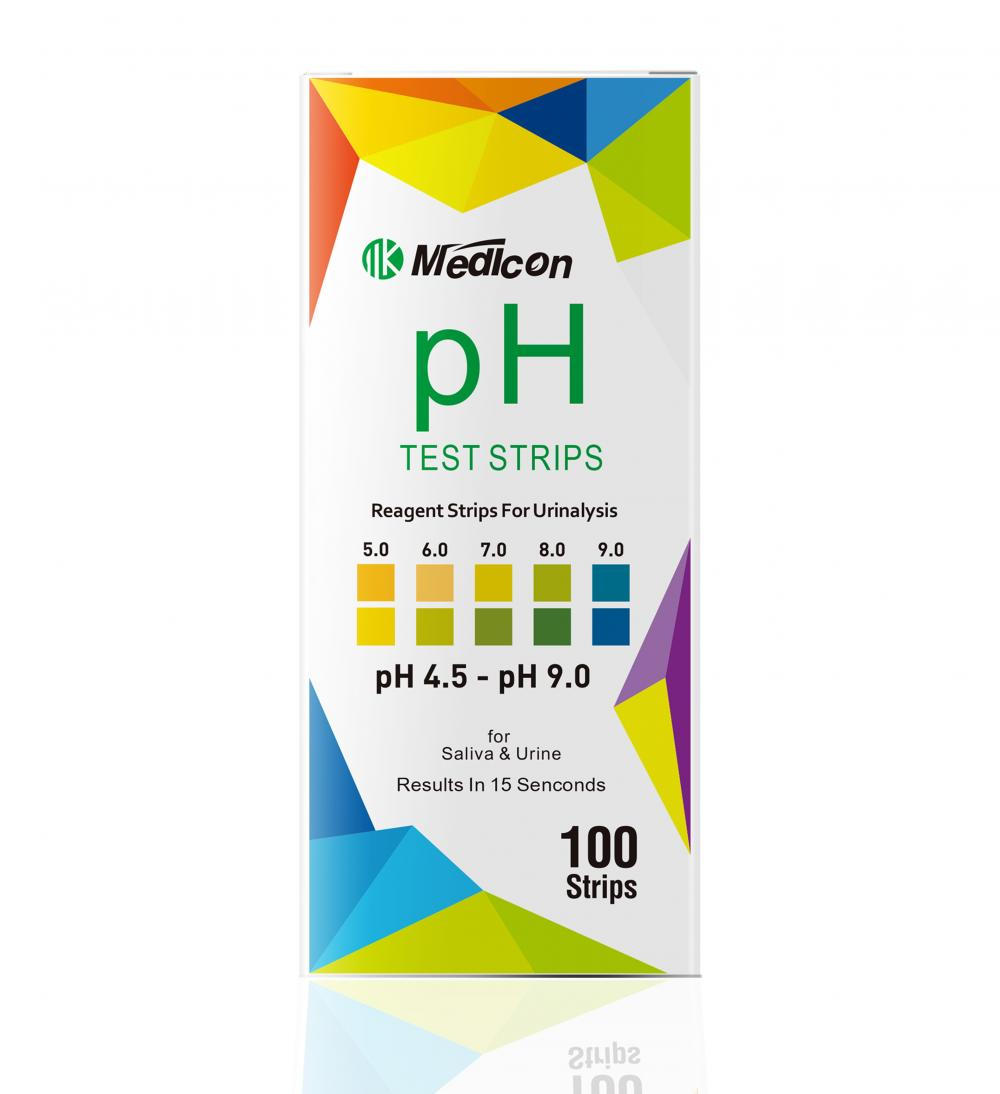 Urine saliva pH test strips 4.5-9.0