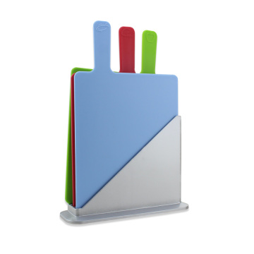 Index Plastic Cutting Board Set with Stand