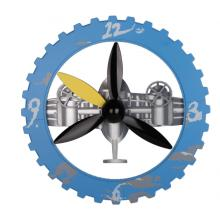Blue Sky and Cloud Gear Wall Clock