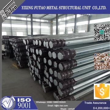 380KV Galvanized  Octagonal Electrical Steel Pole