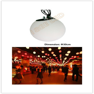 DMX colorful LED hanging 3D ball outdoor