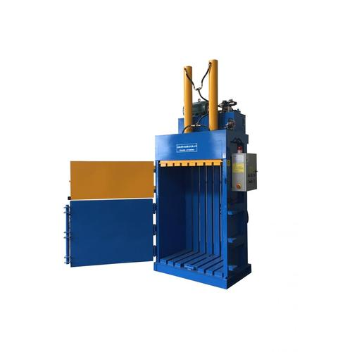 Vertical hydraulic baling machine for waste paper