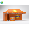 Advertising tent with four sidewall and print