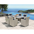 Square 5-Piece Wicker Patio Dining Set
