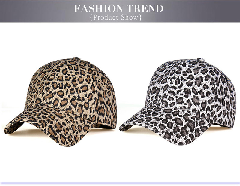 Leopard cap baseball cap man and woman (1)
