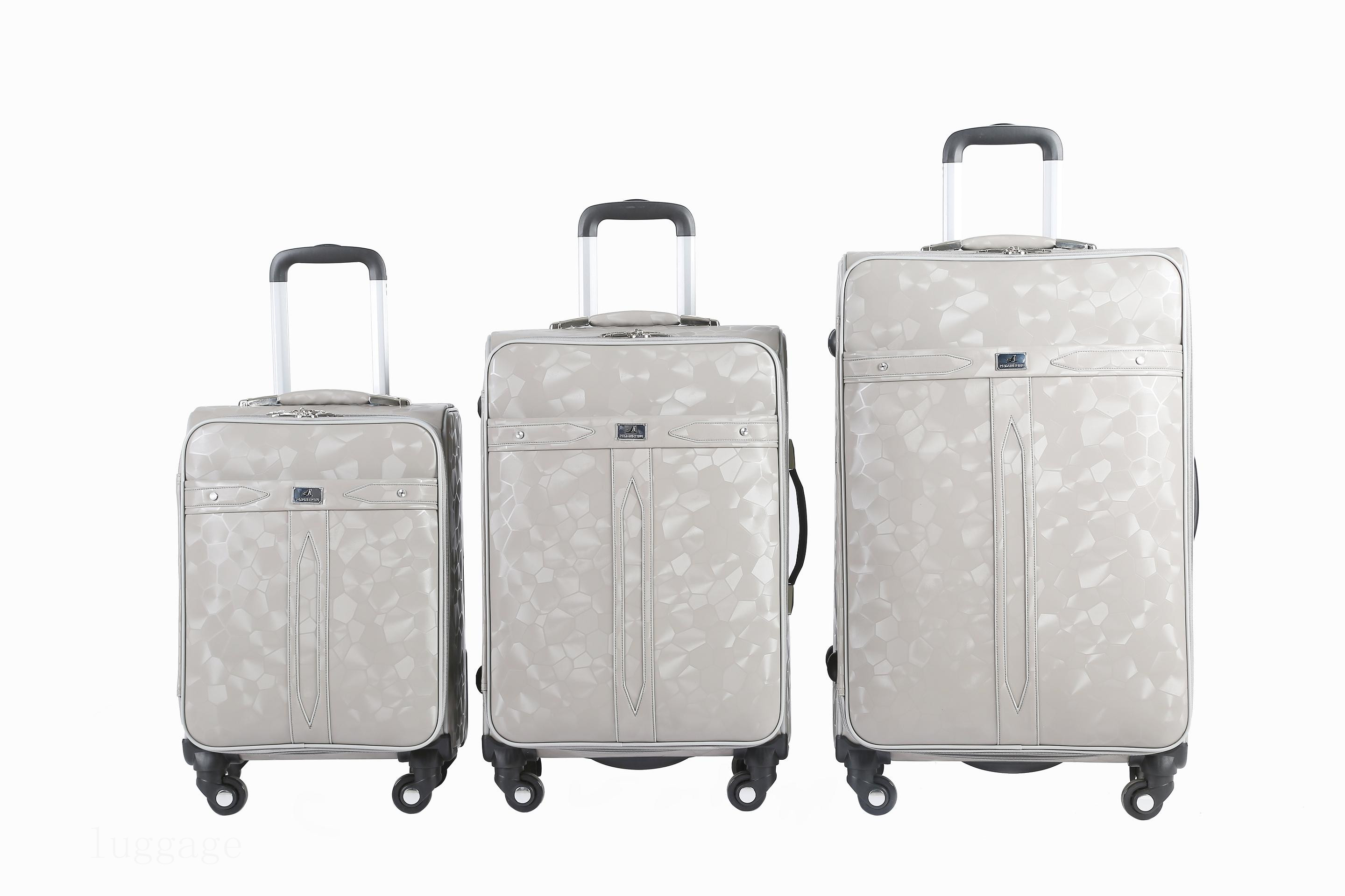 3186# PU luggage bags