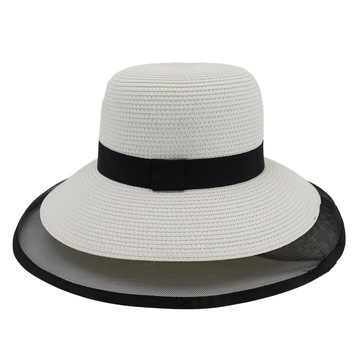 Hat design paper straw hat blank flap cap