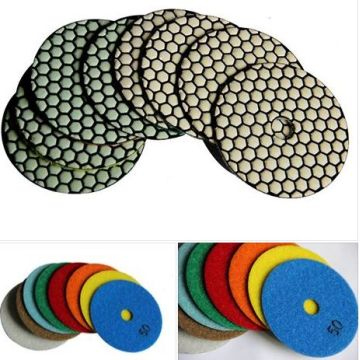 Dry Polychrome Diamond Polish Pad for stone polishing