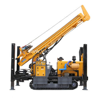 Hydraulic 400m depth portable water well drilling rig