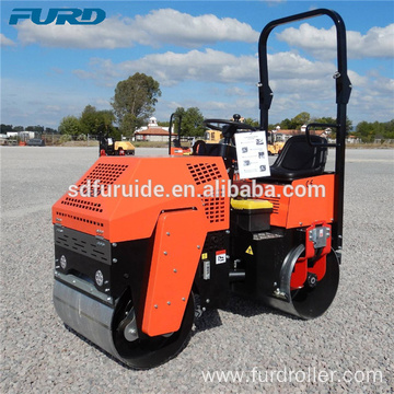 1000kg Small Asphalt Road Rollers with 800mm Vibratory Drum FYL-880