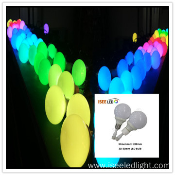 Club decoration RGB DMX 80mm LED Bulb Light