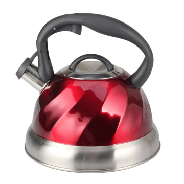 The Painting Red Stainless Steel Whistling Kettle