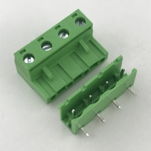 right angle male and female pluggable terminal block