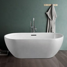Modern Oval Freestanding Soaking Acrylic Bath Tub