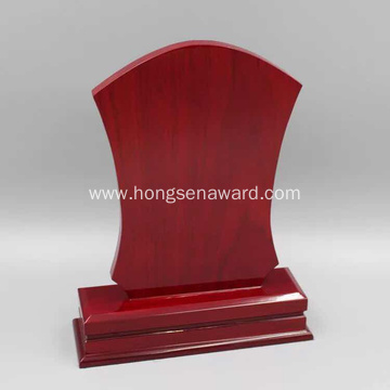 Square red wooden trophy