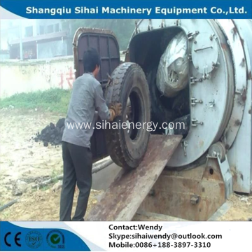waste tyre recycling machine pyrolysis plant