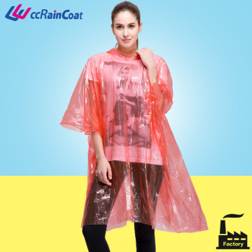 One time use disposable plastic raincoat men, women
